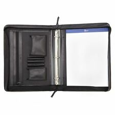 Royce Leather Executive Convertible Zip Around Binder Genuine Leather Padfolio