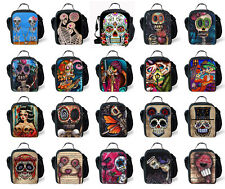 Fashion Skull Zombie Picnic Lunch Tote Kids School Insulated Lunch Container Bag