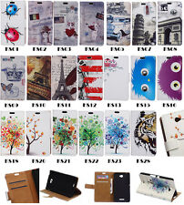 Leather Wallet Holder Card Case Stand Cover For Sony Nokia Smart Phone Series KS