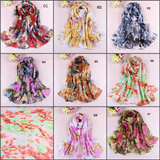 Women Lady Chiffon Soft Long Neck Scarf Shawl Scarves Stole Wraps 8 Color 85z