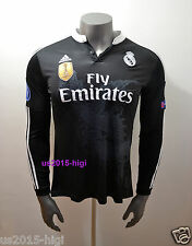 Real Madrid Cristiano Ronaldo third black long sleeve jersey Champions League