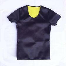 Hot Shapers Women Stretch Neoprene Slimming Body Shaper Loss-weight T-shirt Vest
