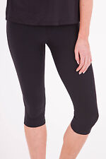 NEW Running Bare Womens Leggings High Rise 3/4 Tight Black