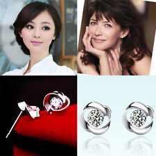 HOT Lady Fashion Jewelry s925 Rotary Love Stud Earring Wedding Party Earrings