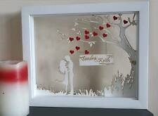 Personalised unique gift anniversary wedding engagement couple love frame