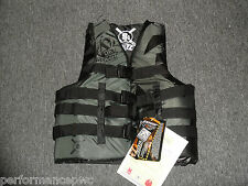 JETPILOT S1 Life Vest PFD Jacket JP15215 Black USCG Approved Wakeboard Water Ski