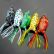 1PCS Frog Topwater Snakehead Fishing Lure Crankbaits Hooks Bass Bait Tackle