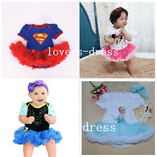 BABY TODDLER GIRLS DISNEY PRINCESS FANCY DRESS UP COSTUME BIRTHDAY PARTY OUTFITS