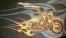 Harley Davidson Motor Cycle fabric for Flag/Throw etc.