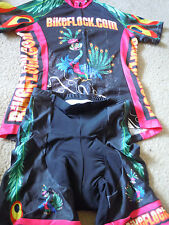 V Gear Bikeflock.com Women's Peacock Cycling Kit/Short & Shirt Set