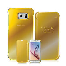New Mirror Clear Flip View Folio Case Cover for Samsung Galaxy S6