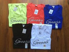 NWT GUESS TANK TOP GUESS LOGO ON THE FRONT Blue/Blanc/White/Black/Green/Red