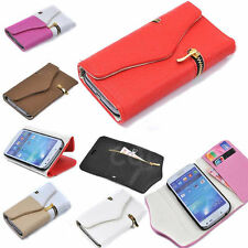 magnetic Flip Leather Zipper Wallet Case Cover for Samsung Galaxy S4 S5 note 3 4