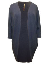 Womens plus size 16 18 20 22 24  top long line office cardigan / knitted jacket