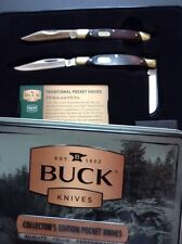 Buck Knives Collector's Edition Pocket Knives 379 Solo And 373 Trio