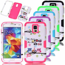 Cute Owl Printed Dual Layer Combo Shockproof Hard Matte Case For Samsung Galaxy