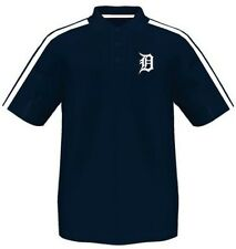 Detroit Tigers Majestic Synthetic Arm Polo Shirt Navy Mens Big & Tall Sizes