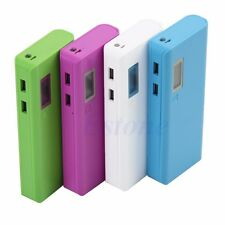 5x 18650 Dual USB LED Power Bank Battery Charger Case DIY Holder Box For iPhone