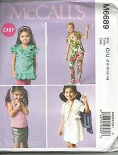 MCCALLS 6689 GIRLS  TOPS  SKIRT DRESS PANTS SEWING PATTERN