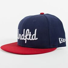 UNDEFEATED X NEW ERA UNDFTD CHAINSTITCH FITTED BASEBALL HAT NAVY 59FIFTY H27