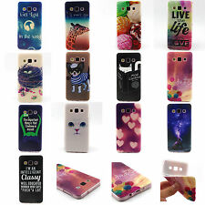 Paint TPU Silicone Rubber Protective Case Cover Skins For Samsung Galaxy Phone