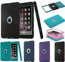 Shockproof Heavy Duty Rubber Stand Case Cover For Apple iPad 2 3 4 Air 1 2 mini