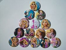 "15 count 1"" Tangled Rapunzel Buttons Pinbacks Flatbacks crafts hairbows"