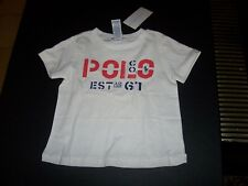 NEW POLO RALPH LAUREN white  red blue  t shirt baby toddler boys 12 months or 4T