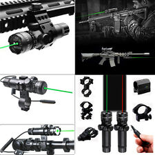 Tactical Green/Red Laser Sight +Picatinny Mount with Remote for Rifle Shotgun