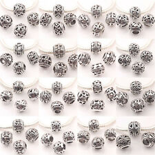 New 10/20Pcs Tibet Silver Hollow Out Round Loose Beads Jeweley Findings 10mm DIY