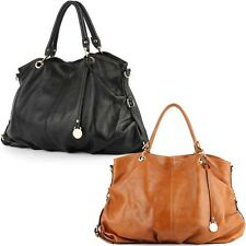Women bag leather HandBag Shoulder tote hobo designer purse black brown lady