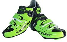 New Men Athletic Road Bike Shoes Lock Professional Cycling Shoes Green US Size