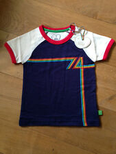 * NUOVO * Little Bird by jools OLIVER-MARINA MILITARE 74 ARCOBALENO T-SHIRT 12-18-24 mesi