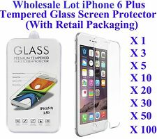 For iPhone 6 Plus/6s Plus Tempered Glass Screen Guard WHOLESALE Retail Package