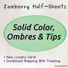 Jamberry Half-Sheet -- Solids, Ombres & French Tip -- FAST SHIPPING w/ TRACKING