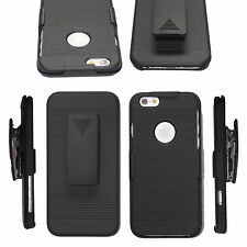 For iPhone X 6 7 8 plus Holster Case Cover with Belt Clip +Stand phone accessory