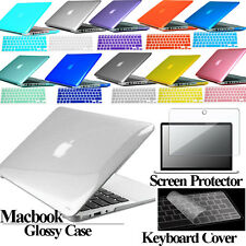 New Glossy Hardshell Case + Keyboard Cover + Screen Protector For Apple MacBook