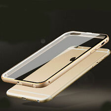 Luxury Thin Aluminum Metal Bumper Clear Back Case Cover for iPhone6/6Plus/5/5s