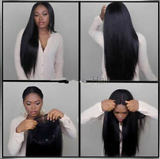 100 soft Malaysian  Lace Front  wig  Human  Hair  Remy silky straight  4 colors