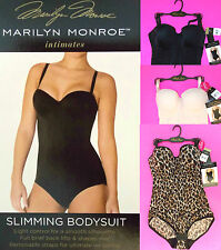 NWT Marilyn Monroe Convertible Slimming Bodysuit S,M,L,XL Black,Leopard