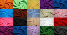 """Polar Fleece Fabric 31 Solid Colors Anti-Pill 58""""-60"""" Soft Blanket Craft BTY"""