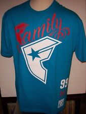NEW FAMOUS STARS AND STRAPS  T SHIRT turquoise blue red Wildcat Family Large  XL