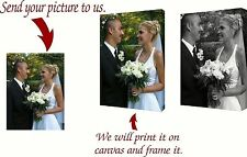 "Print Your Photo on Custom 1.5"" GALLERY WRAPPED CANVAS INCLUDES SOLID WOOD FRAME"