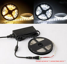 5M 3528/5050/5630/2835 Flexible LED Strip Light + FREE DC Connector+Power Supply