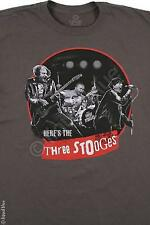 THREE STOOGES-HERES THE STOOGES-ON STAGE-MOE LARRY & CURLY-T-SHIRT M-L-XL-XXL
