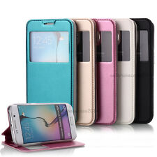 Wallet For Samsung Galaxy S6/EDGE PU Leather Flip Front- View Stand Case Cover
