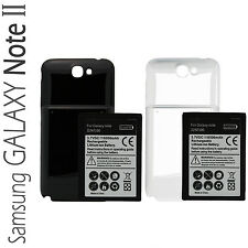 Samsung Galaxy Note 2 II N7100 Extended Battery And Back Cover (6500mAh)