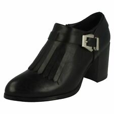 Ladies F50412 Black synthetic ankle boots   by SPOT ON SALE NOW  £19.99