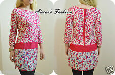 NEXT NEW LADIES LONGLINE DITSY FLORAL PRINT TUNIC 10,12,14,16,18,20,22