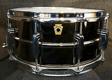 """Ludwig drums Black Beauty 6.5x 14"""" Black Nickel over brass snare drum LB417 New"""